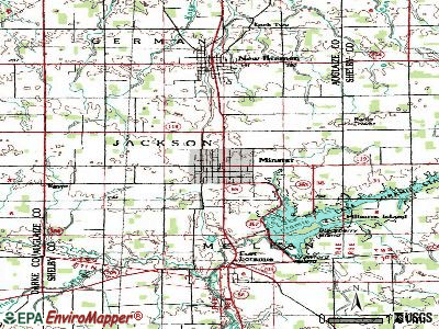 Minster topographic map
