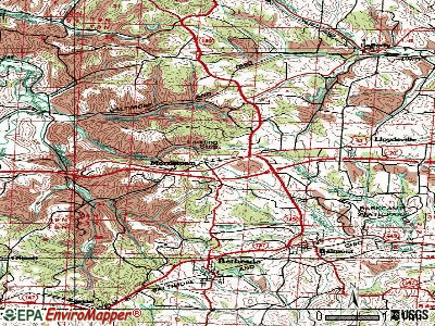 Morristown topographic map