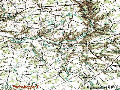 Morrow topographic map