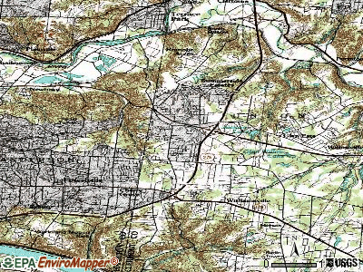 Mount Carmel topographic map