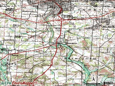 Navarre topographic map