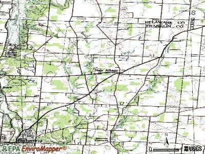 New Albany topographic map