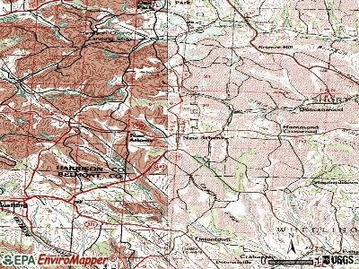 New Athens topographic map