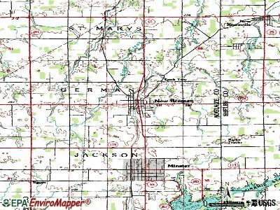 New Bremen topographic map