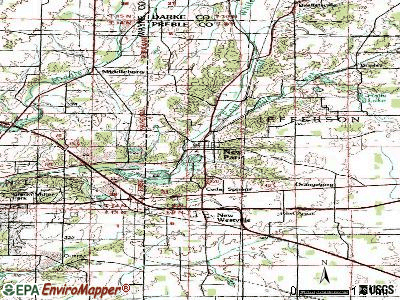 New Paris topographic map