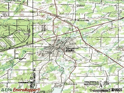 Newton Falls topographic map