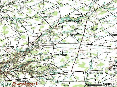 Newtonsville topographic map