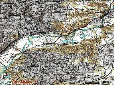 Newtown topographic map