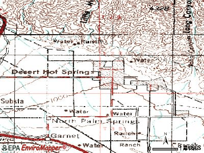 Desert Hot Springs topographic map