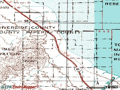 Desert Shores topographic map