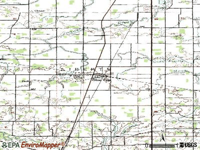 Ohio City topographic map