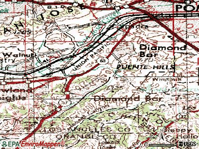 Diamond Bar topographic map