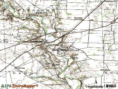 Orient topographic map