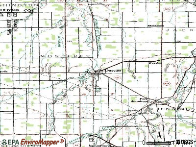 Ottoville topographic map