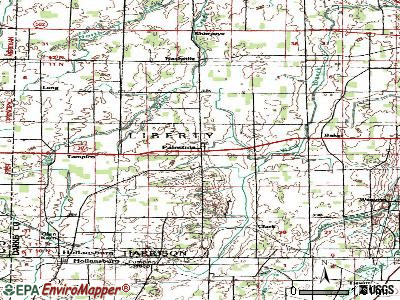 Palestine topographic map