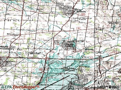 Park Layne topographic map