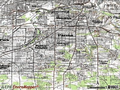 Parma topographic map