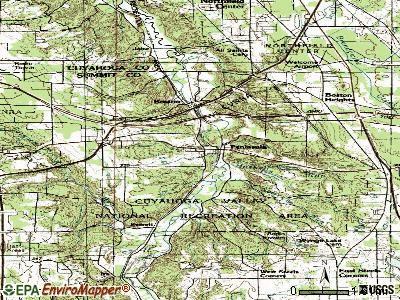 Peninsula topographic map