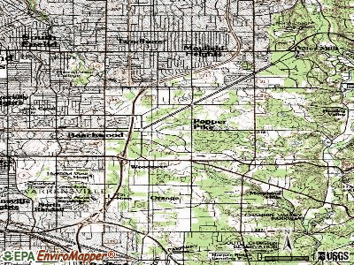 Pepper Pike topographic map