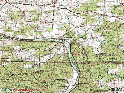 Philo topographic map