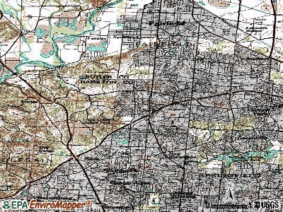 Pleasant Run topographic map