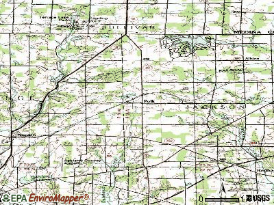 Polk topographic map