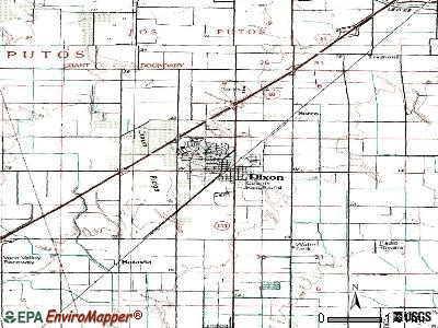 Dixon topographic map