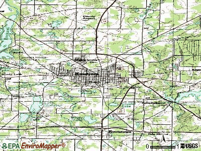Ravenna topographic map