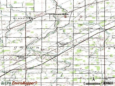 Rawson topographic map