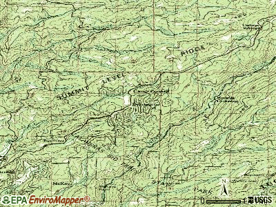 Dorrington topographic map