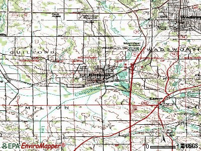 Rittman topographic map