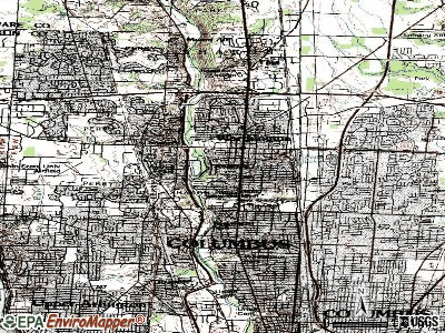 Riverlea topographic map