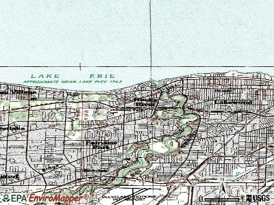 Rocky River topographic map