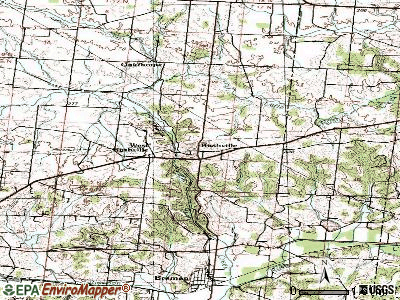 Rushville topographic map