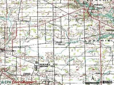 Russia topographic map