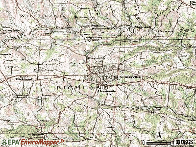 St. Clairsville topographic map