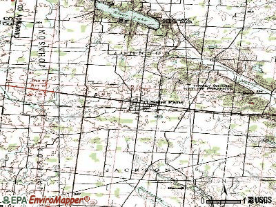 St. Paris topographic map