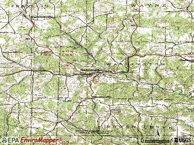 Salineville topographic map
