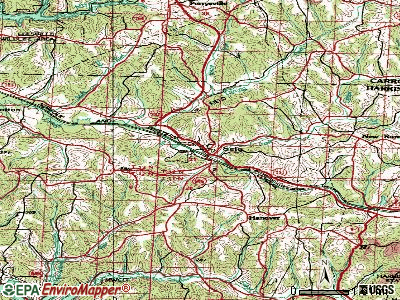 Scio topographic map