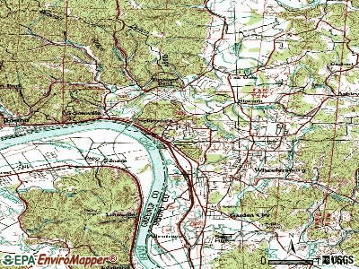 Sciotodale topographic map