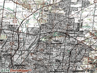 Sharonville topographic map