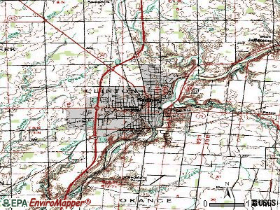 Sidney topographic map