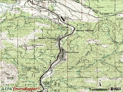 Dunsmuir topographic map