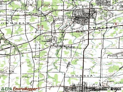 South Amherst topographic map