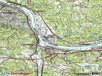 South Point topographic map