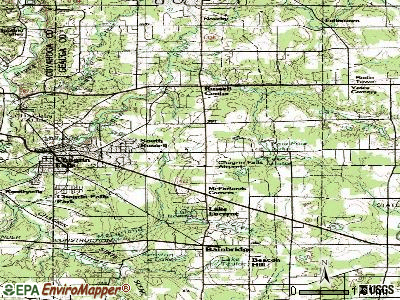 South Russell topographic map