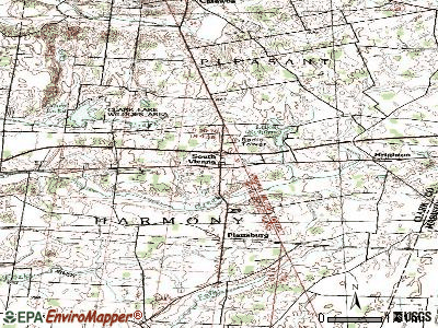 South Vienna topographic map