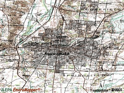 Springfield topographic map