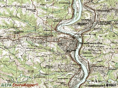 Steubenville topographic map