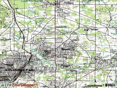 Stow topographic map